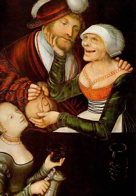 Cranach d.Ä., Die Kupplerin